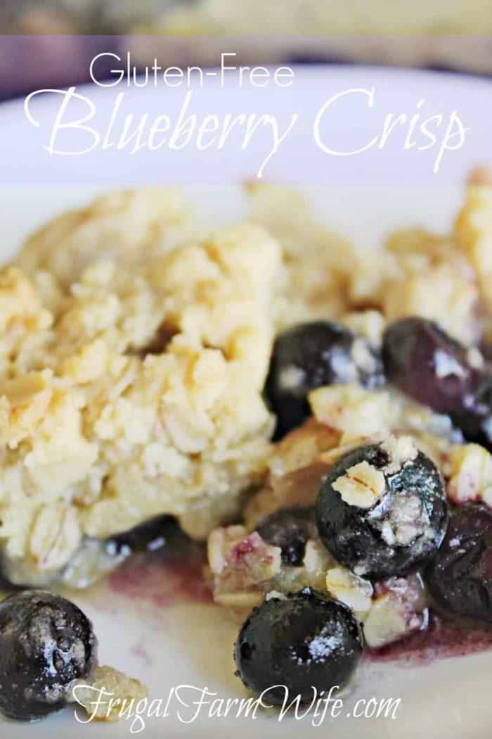 Gluten-Free Blueberry Crisp Recipe | The Frugal Farm Wife