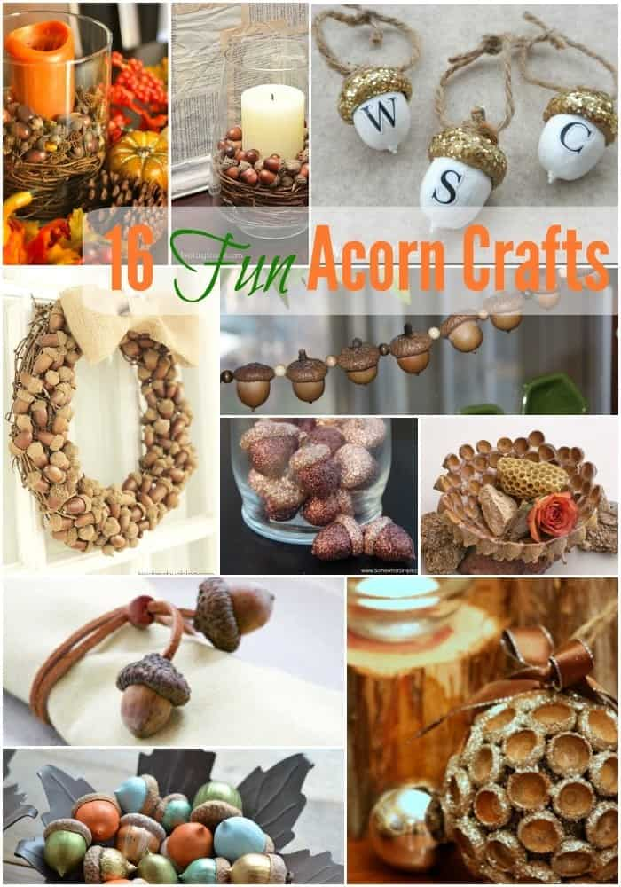 Check out these adorable and fun fall acorn DIYs this blogger rounded up for fall!