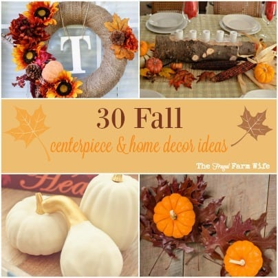 fall home decor and centerpieces diy projects