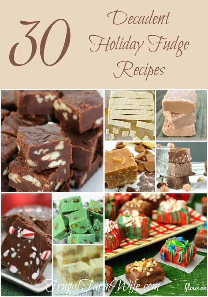 OMG there are serious 30 holiday fudge recipes in this post! Amazing! I might do 30 days of holiday fudge and try every single one!