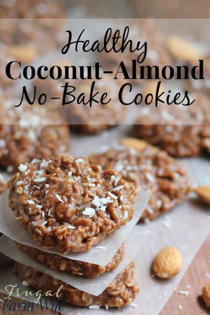 These healthy almond-coconut no-bake cookies are amazing! They remind me of my favorite candy bar. Yum!